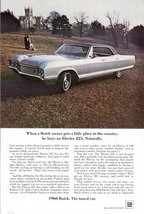 1966 Buick Electra 225 country side automobile print ad - $10.00