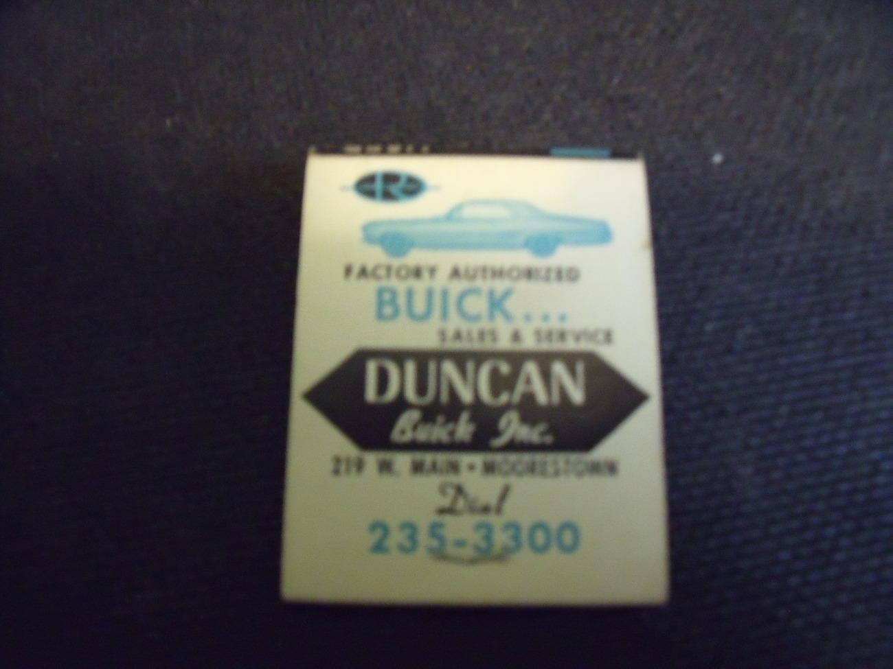 Buick Dealer Matchbook early 1960's