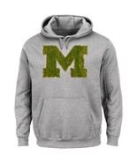 NCAA Michigan Wolverines Men's Laid Out Fleece, Steel Heather, Large - $29.95