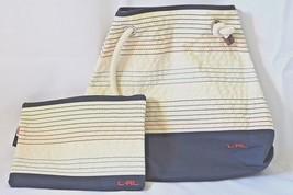 New Lauren Ralph Lauren beach tote and pouch set womens RLR Casco bag Striped - $44.40