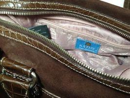 Kathy Van Zeeland Brown Studded Rhinestone Buckle Straps Faux Suede Two Keychain image 8