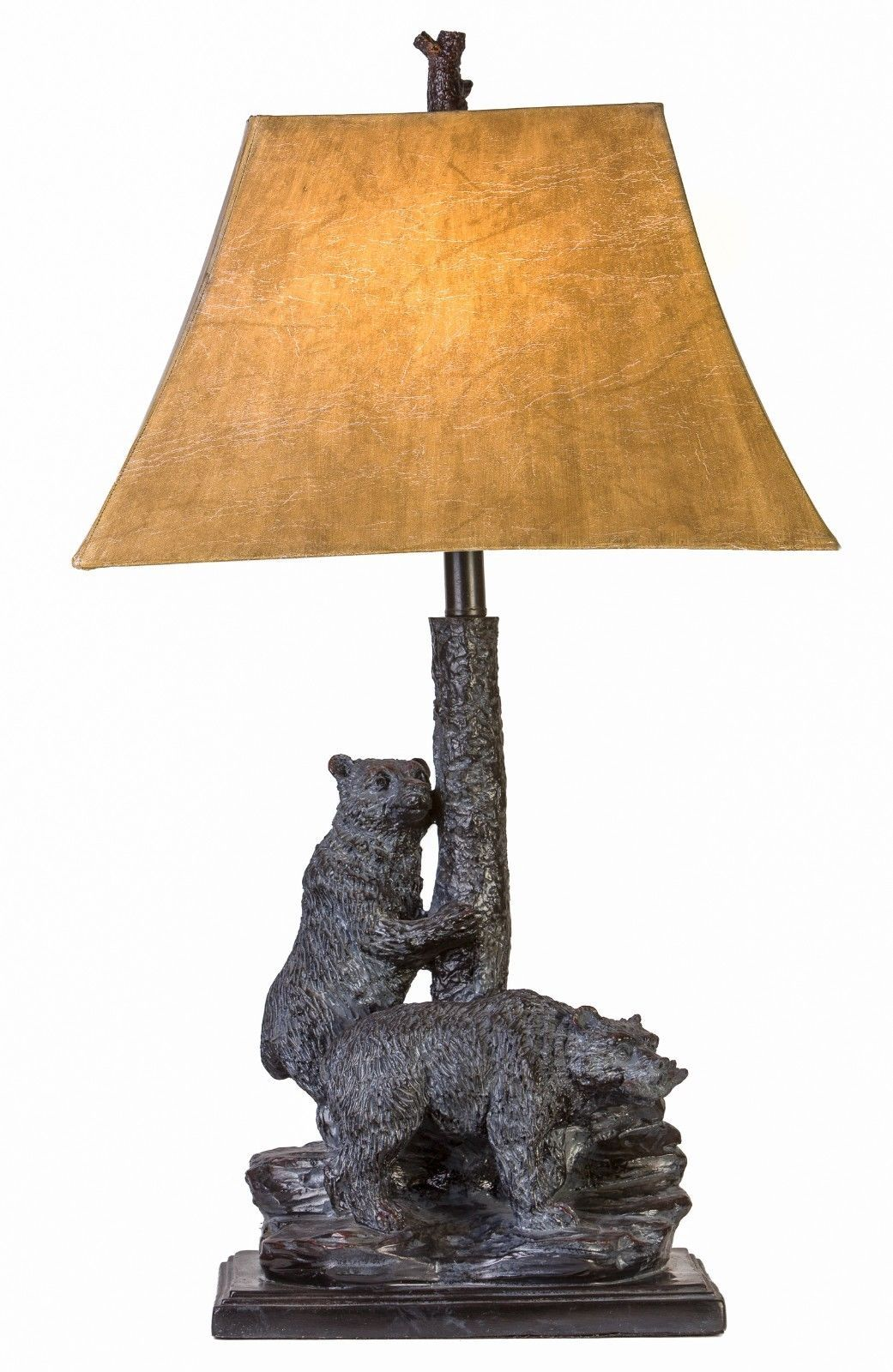 "Bear Friends Table Lamp Rustic Cabin Lodge Decor Bears Wildlife 31""H"
