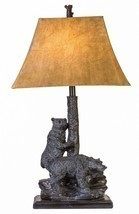 "Bear Friends Table Lamp Rustic Cabin Lodge Decor Bears Wildlife 31""H - $2.542,23 MXN"