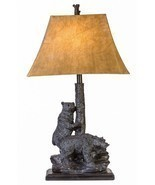 "Bear Friends Table Lamp Rustic Cabin Lodge Decor Bears Wildlife 31""H - £104.23 GBP"