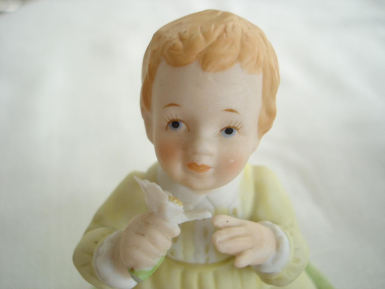 Roman Blossom Abbies Children Porcelain Figurine, 1984