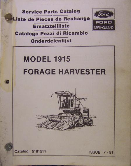 Primary image for New Holland 1915 Self-Propelled Forage Harvester Parts Manual