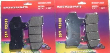 Disc Brake Pads for the Harley FLHR FLHRC Road King 2007-2010 Front (2 sets)