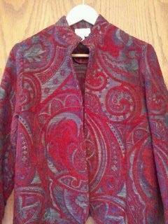 Coldwater Creek Tapestry Jacket in Size Petite Medium