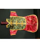WINE BOTTLE DRESS - RED & GREEN - UNIQUE & NEW! - $5.50