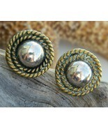 Vintage Taxco Mexico Sterling Silver Ball Rope Earrings   - £15.25 GBP
