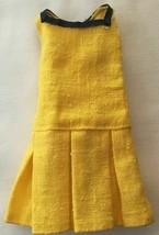 Vintage Barbie Francie 1967 Borderline #1287 Yellow Linen Dress  238-33 - $38.00