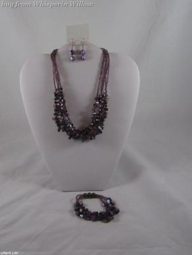Primary image for Lavender Shell Briolettes Jewelry Set