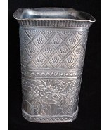 James Tufts Victorian Silver Plate Repousse Spooner Vase - $35.00