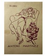 Antoni Martinez Opisso 1948 Ex Libris Exlibris Bookplate Pin Up Girl - $29.69