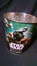 Star Wars Rogue One Metal Embossed Popcorn Bucket From the Theater - $11.51