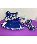 Build-A-Bear (BLUE & WHITE CHEERLEADER Uniform TOP/SKIRT Outfit W/ Acces... - $9.89