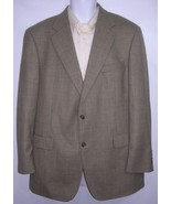 Brooks Brothers Brown Plaid Houndstooth Sport Coat 42 R - $48.67