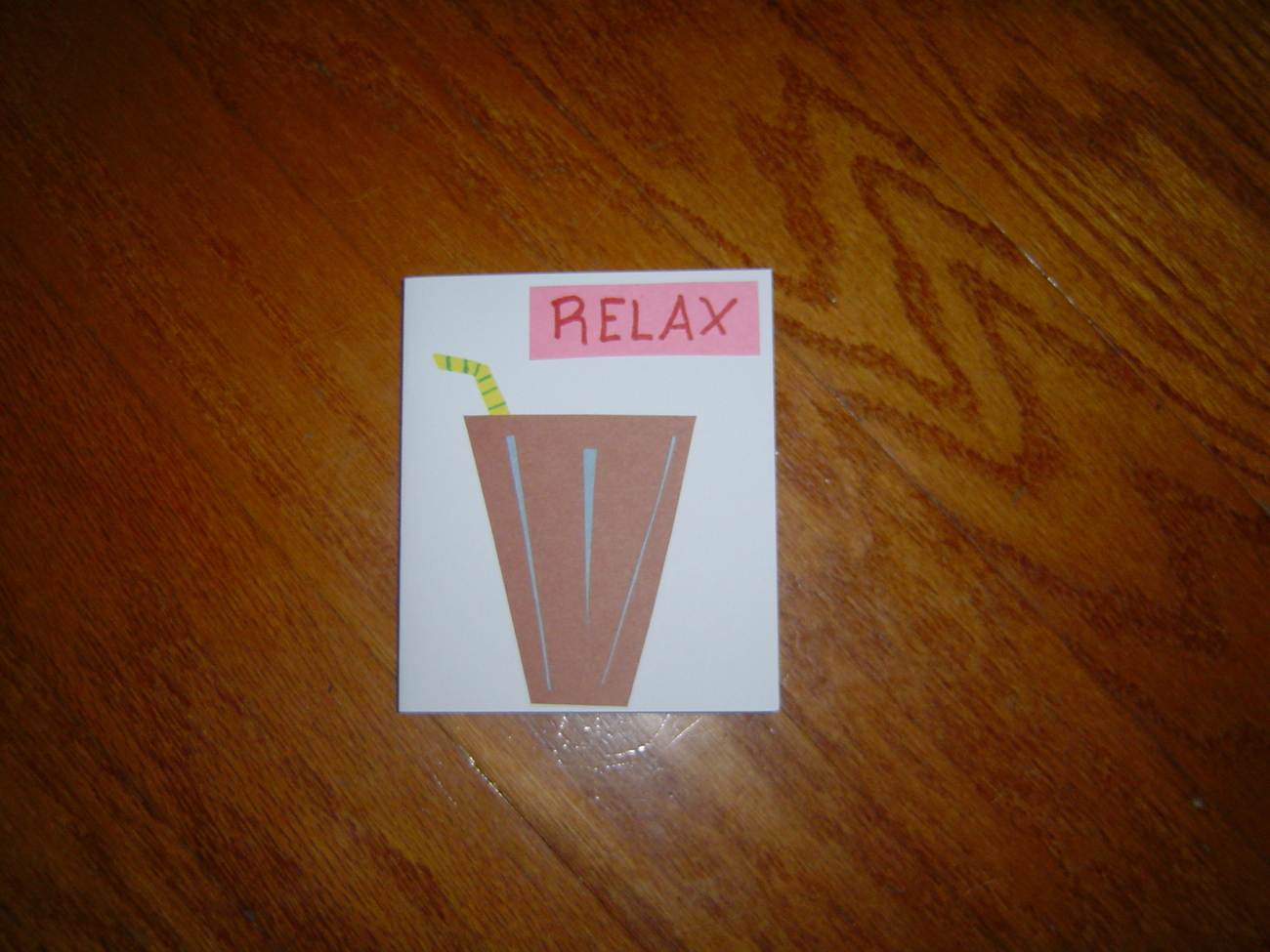 Relax Card, Handcrafted scrap happy card