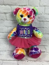 "Build A Bear Rainbow Pop of Color 16"" Teddy Bear Plush Stuffed Toy - $18.46"