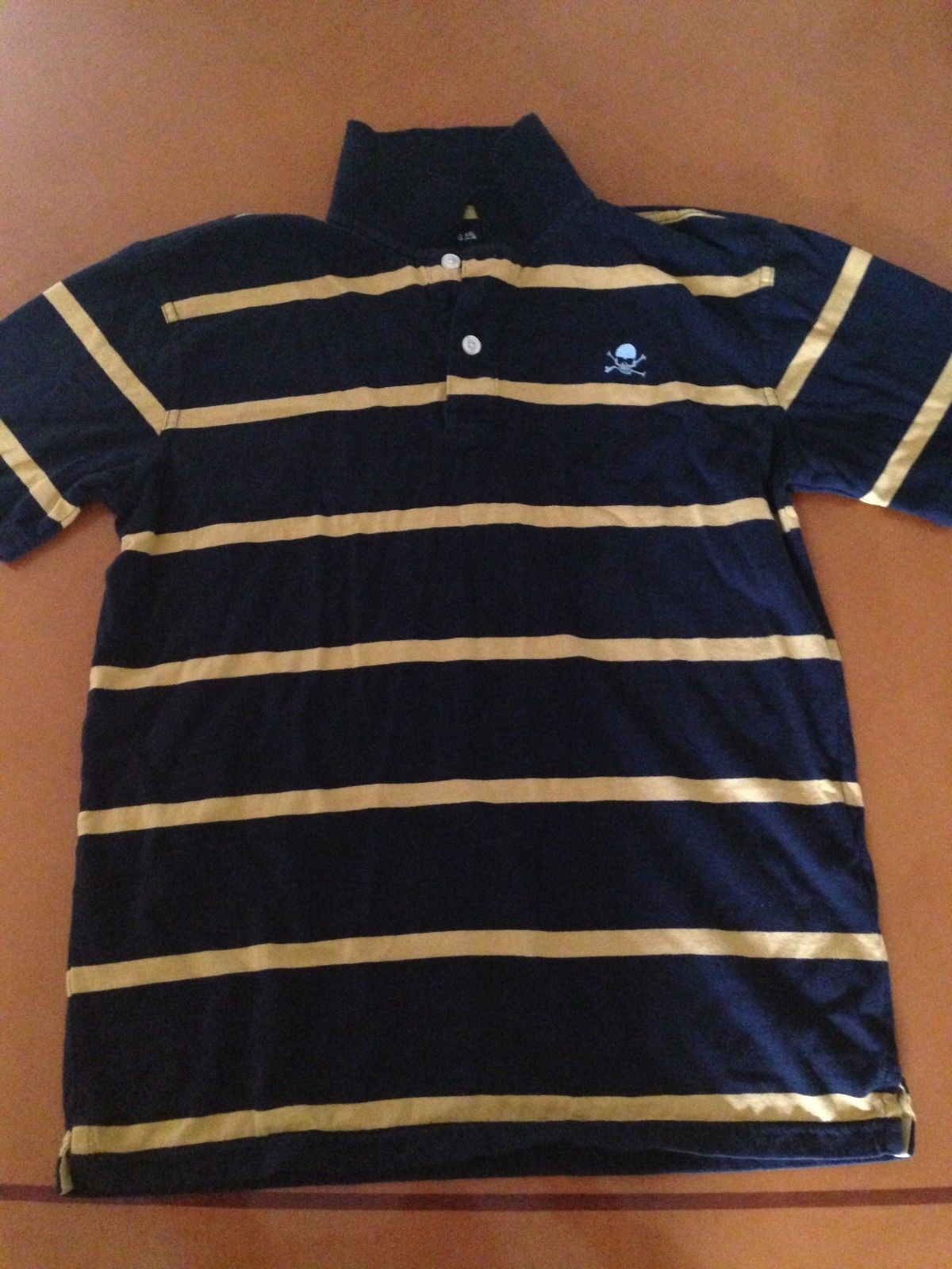 Primary image for Gap Kids GapKids Blue Yellow Striped Polo Shirt Shirts Size XXL (14-16)
