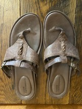 Timberland Earthkeepers Women's Brown Leather Sandals Flip Flops Size 9.5 - $12.82