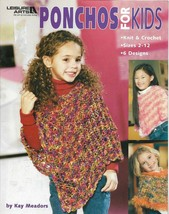 PONCHOS For KIDS-Knit & Crochet-Sizes 2-12  6 Designs  - $5.86