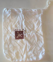 "Drawstring Cinchsack White Bag 7.5"" x 10"" - $4.79"