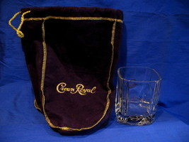 Crown Royal Whisky Glass with Purple Bag Canada Whiskey Collectible Souv... - $9.99