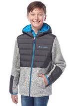Free Country Boys Hooded Hybrid Jacket Pumice Heather - $23.99