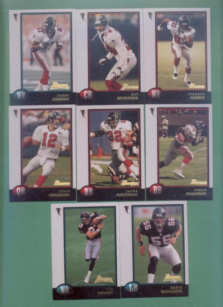 1998 Bowman Atlanta Falcons Football Team Set