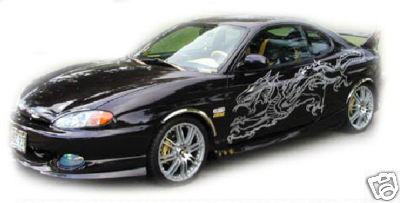 HE'S A BIG ONE FULLSIDE DRAGON #1 DECAL GRAPHIC CAR SUV