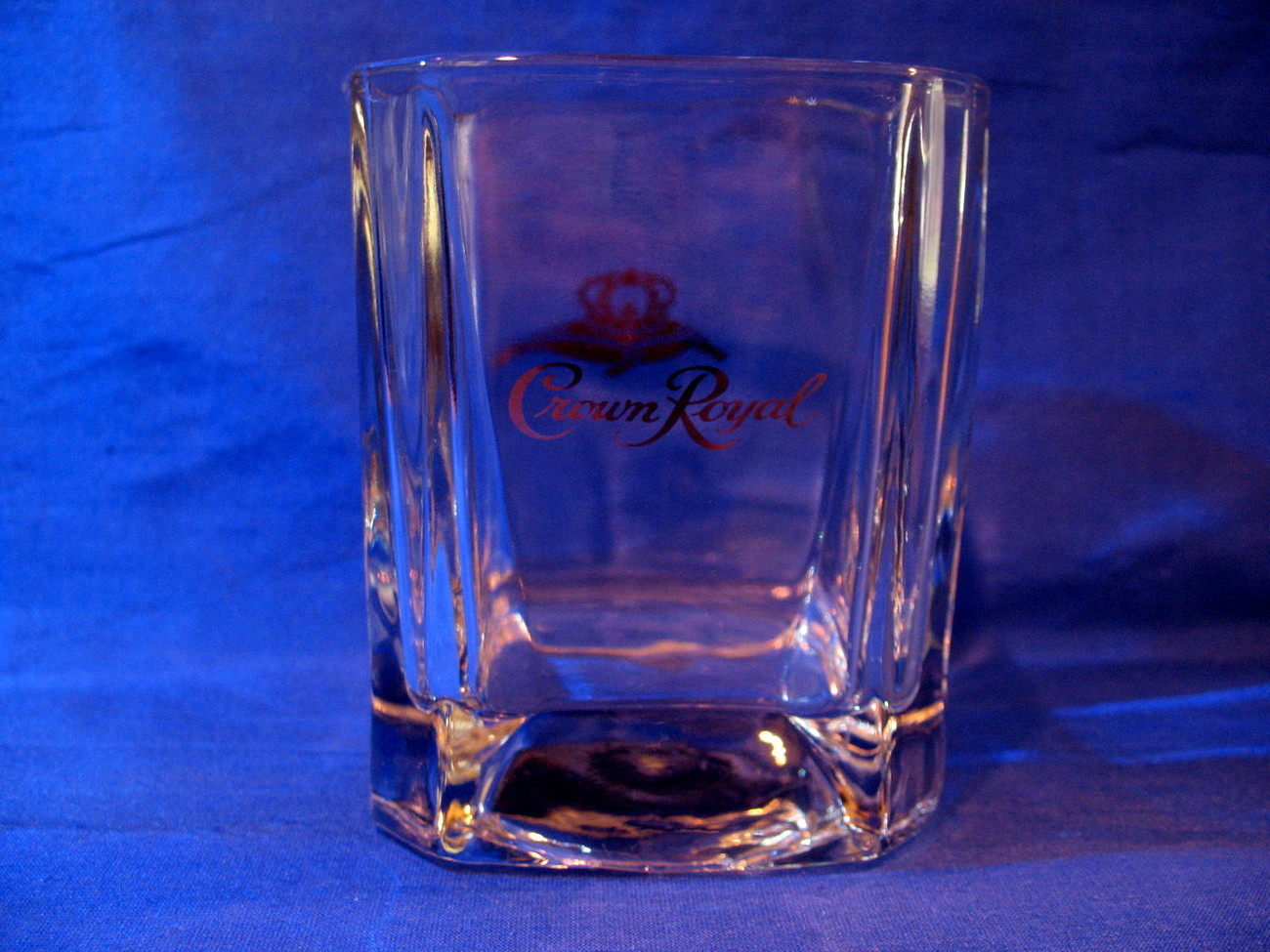 Crown Royal Whisky Glass with Purple Bag Canada Whiskey Collectible Souvenir
