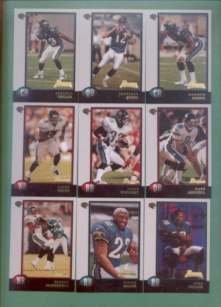 1998 Bowman Jacksonville Jaguars Football Team Set