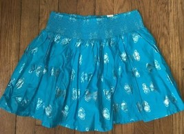 * NWT Children's Place blue foil print butterfly skirt size large 10  girls - $7.92