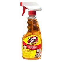 Goof Off FG796 Adhesive Gunk Remover, 16 oz. Trigger Spray Bottle, Orange, 16 Fl