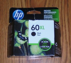 Genuine HP 60XL Ink Cartridge - Black Dated Dec 2020 HP 60 XL Imperfect Box - $25.23