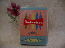 Budweiser Beer Retro 1961 Playing Cards Deck Souvenir NEW Collector Souvenir - $9.98