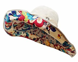 Bienvenu Women Summer Sun Cap Wide Brim Beach Bohemia Foldable UPF 50+ T... - $15.61