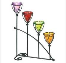 Jewel Toned four Colored votive cup Candleholder - $6.50