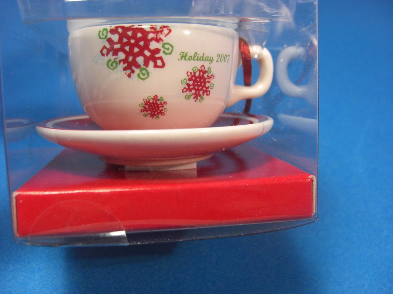Starbucks Holiday 2007 Cup & Saucer Christmas Ornament
