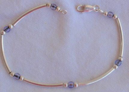 Purple blue silver bracelet 2