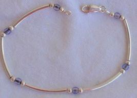 Purple blue silver bracelet - $23.00