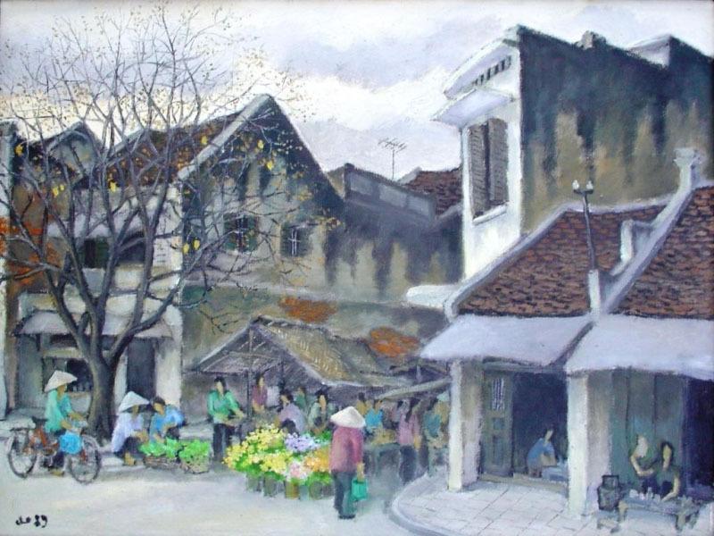 Asi phl vnm 008 hanoi afternoon  market in winter 1989