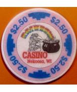 $2.50 Casino Chip. Rainbow, Nekoosa, WI. W08. - $4.99