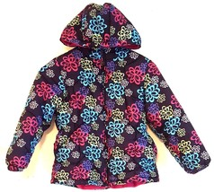 LONDON FOG RN 15101 – Girls Hooded Floral Winter Quilted Puffer Coat Siz... - $14.65