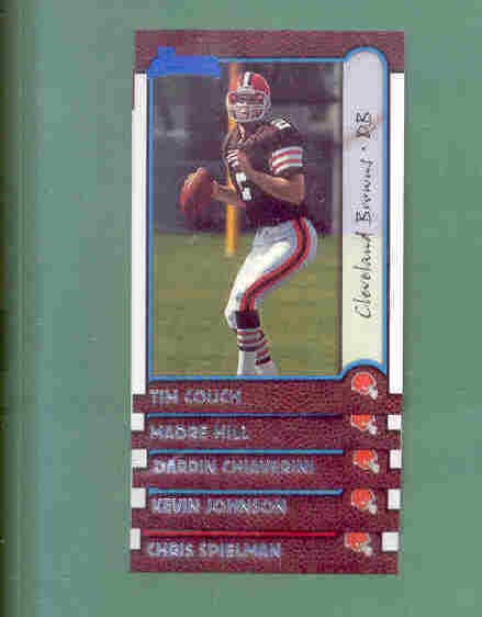 1999 Bowman Cleveland Browns Football Set