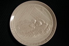 Vtg 1980 Frankoma Pottery~Unto Us A Child Is Born~Christmas Plate~Joniec... - $14.01