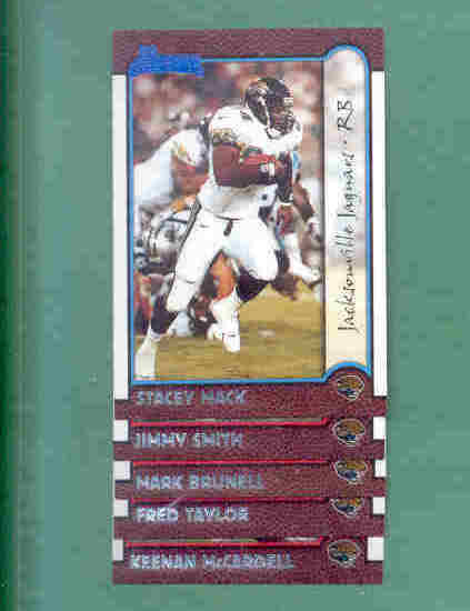 1999 Bowman Jacksonville Jaguars Football Team Set
