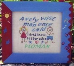 Ask a woman cross stitch chart