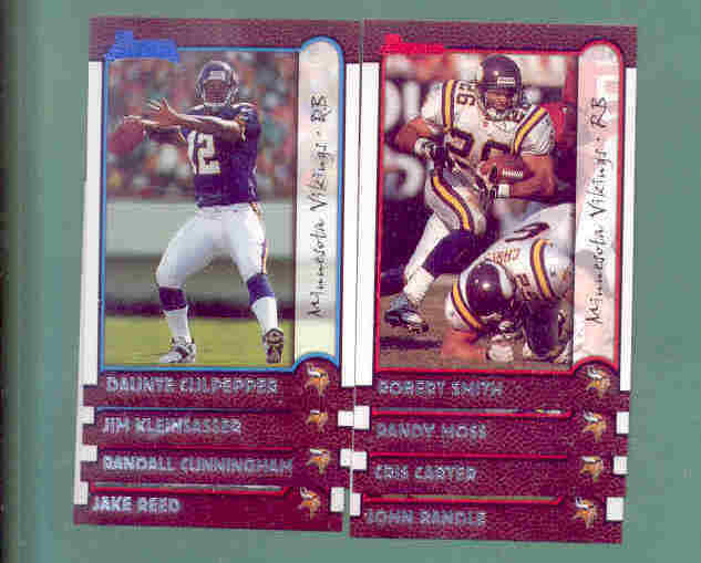 1999 Bowman Minnesota Vikings Football Team Set